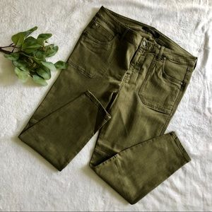 LIVERPOOL OLIVE GREEN SKINNY JEANS